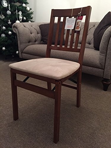 Stakmore Arts and Craft Folding Chair Cherry Finish ( Mink Suede Fruit Wood) One Chair