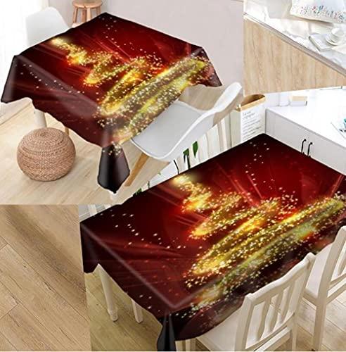 Yqgdss Decoración Navideña Mantel 3D Diseño De Cocina Mesa De Comedor Mesa De Comedor Decoración De Cocina Comedor Familiar Actividades Interiores Al Aire Libre 100x140cm