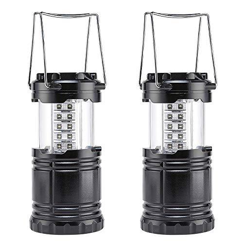 DONGQI Farol de Camping LED,Camping Lantern- Brillante LED Lantern se Puede Plegar Apto para Senderismo,Camping,emergencias,Huracanes Cortes superbrillantes Ligero Resistente al Agua[2 Pack]