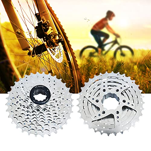 Cassette Piñones, Cassette Rueda Libre, Ligero Rueda Libre 10V para MTB Bicicleta de Carretera Compatible con Shimano Sram (Excepto Sram XD),Silver 10s 11~32t