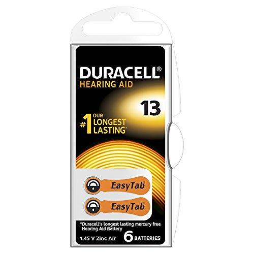 Duracell - Pile Auditive - Easy Tab - 13 Orange - Pack de 6