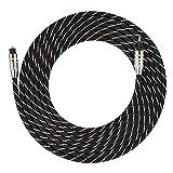 Cables de Audio de Fibra óptica, Toslink a Mini Enchufe Cable de Audio Digital de Fibra óptica de 3,5 mm Conector Chapado en Oro SPDIF Redondo(3M)