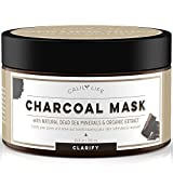 Calily Life Organic Deep Cleansing Activated Charcoal Mask with Dead Sea Minerals, 8.45 Oz. –...