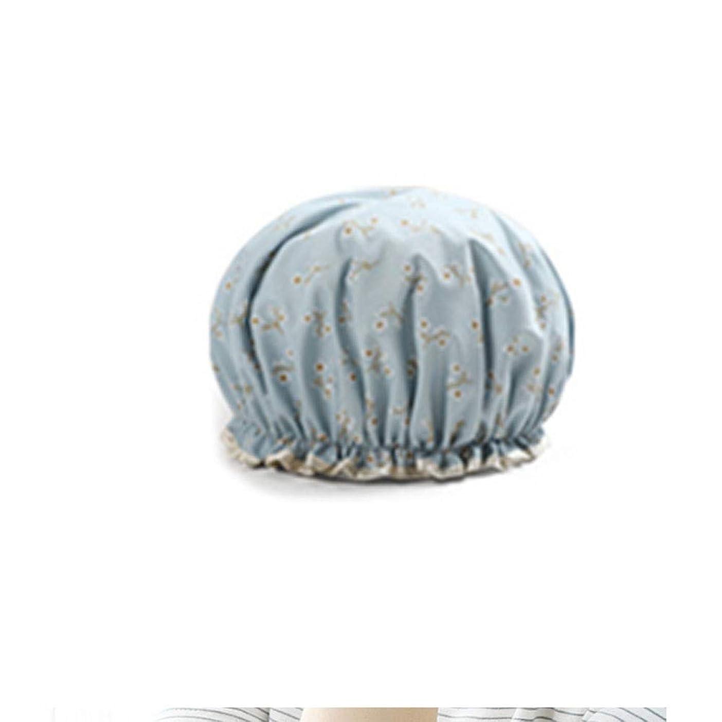 前任者後追加するYUXUANCIXIU シャワーキャップ、レディースシャワーキャップレディース用のすべての髪の長さと太さのデラックスシャワーキャップ - 防水とカビ防止、再利用可能なシャワーキャップ。 家庭用品 (Color : 5)