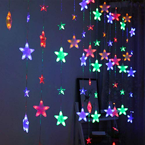 Ambient Light 4m Star Lights 40 Star LEDs Lights Window Lights Plug in Lights (Color : Multicolor)