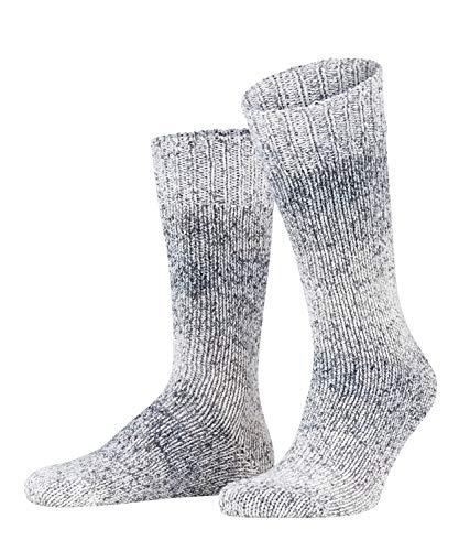 FALKE Herren Socken Faded, 98prozent Baumwolle, 1 Paar, Grau (Anthracite 3110), Größe: 43-46