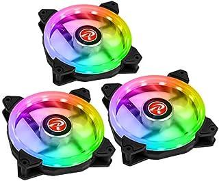RAIJINTEKの消耗品ケースIRIS 12 RAINBOW RGB 256-3 3 * 120 mm