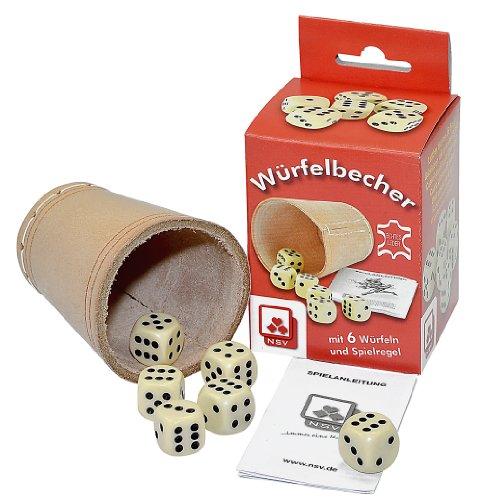 Nrnberger-Spielkarten-Verlag - Cubilete de dados, de 2 a 6 jugadores