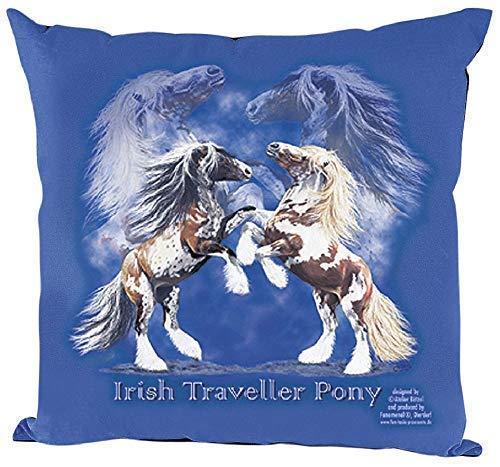 Fan-O-Menal kussen met hoogwaardige print - paarden stijgende Tinker - 09110 blauw ©Collectie Bötzel