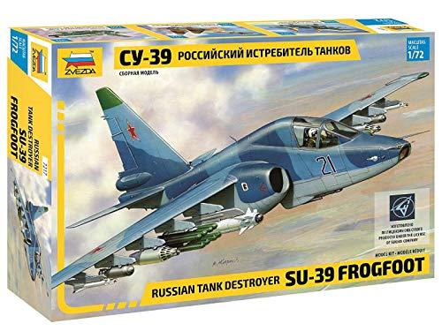 Zvezda Models- Aereo Russian Tank Destroyer-Sukhoi Su-39 Modellino, Scala 1:72, Multicolore, Z7217