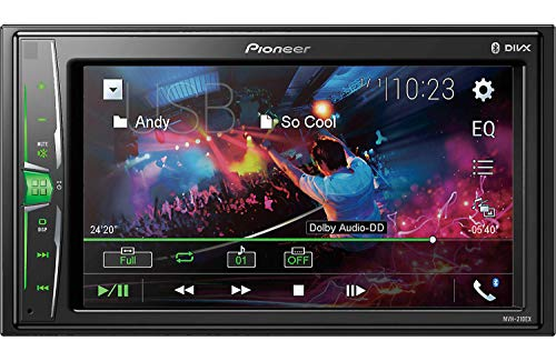 Pioneer-MVH-210EX-Autoradio-Receiver-mit-Doppel-DIN-Bluetooth-digital-62-cm-WVGA-Touchscreen-keine-Wiedergabe-von-CDs