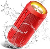 Altavoz Portátil Bluetooth, 24W Impermeable IPX7 Sonido Estéreo TWS, Construido en Micrófono y Manos Libres, Bluetooth 5.0 + AUX Play, Altavoz inalámbrico Portátil - Red