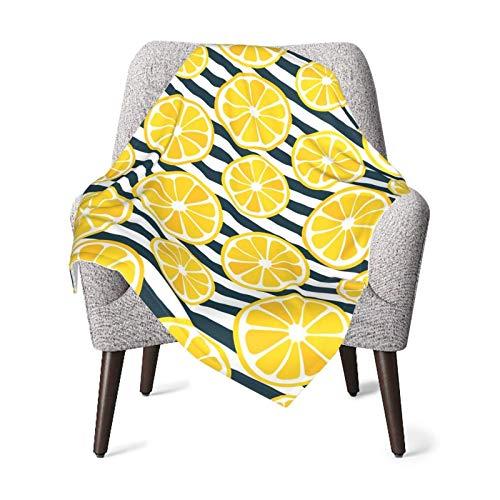 Lemon Slices - Manta para bebé (microfibra, súper suave)