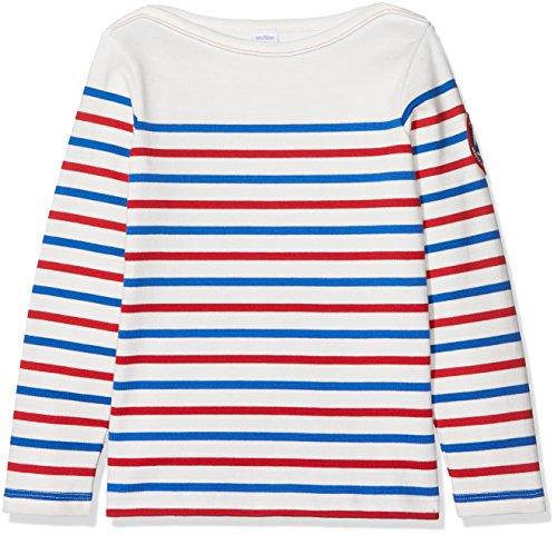 Petit Bateau Mariniere Sudadera, Blanco (Marshmallow/Multico Marshmallow/Multico), 10 años para Niños