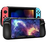 FINTIE Case Compatible with Nintendo Switch, Vegan Leather Coated Hard Shell Protective Back Cover Shock Absorption [Snap On] Ergonomic Grip Fit Nintendo Switch, Retail Package (Galaxy)
