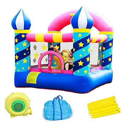 Trampolín Inflable para Niños, Pequeño Trampolín Interior/Exterior, Parque Infantil Inflable del Castillo, Cama Inflable, 225X220x215cm