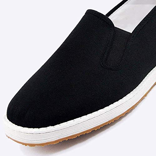 YQ WHJB Melaleuca Bottom Shoes Zapatos de Primavera y Verano para Hombre, Antideslizantes, Transpirables, Transpirables, de Mediana Edad, con Base de tendón y Zapatos Negros