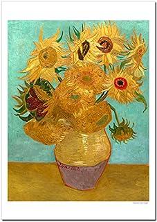 世界の名画 ゴッホ ひまわり(12本のひまわり) ジークレー技法 高級ポスター (B3/364ミリ×515ミリ)