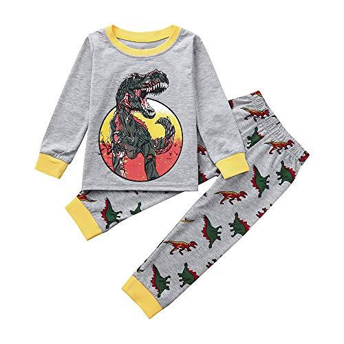 Tronet 2PCS Christmas Kids Boys Girls Winter artoon Button Print Tops+Pants Toddler T-Shirt Set