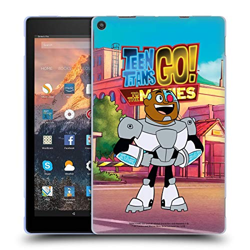 Official Teen Titans Go! To The Movies Cyborg Character Art Soft Gel Case Compatible for Amazon Fire HD 10 (2017)