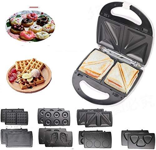 Fácil de limpiar el sándwich antiadherente y el fabricante de gofres con placas de lavavajillas extraíbles Diseño compacto para el desayuno, el almuerzo o los bocadillos fangkai77