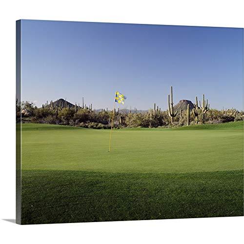 Golf Flag in a Golf Course, Troon North Golf Club, Scottsdale, Maricopa County, Arizona Canvas