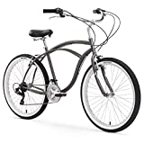 Firmstrong Urban Man Beach Cruiser Bike, Mens Bicycle 26-Inch, 3-Speed, Matte Grey