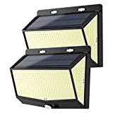 New 468 LED Solar Lights Outdoor 2 Pack Solar Motion Sensor Lights with 3 Lighting Modes, 270° Wide-Angle, IP65 Waterproof, Solar Powered Security Lights for Outside Wall, Fence, Patio, Yard, Garden