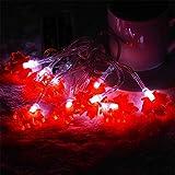 Luces LED de Navidad con pilas colgante de hoja de Navidad luces de cadena de luces de interior al aire libre árbol de Navidad cortinas de hadas decoraciones de luz