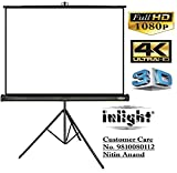 Inlight Cineview 120 Inch Diagonal Tripod Projector Screen, Full HD 1080 P, 8