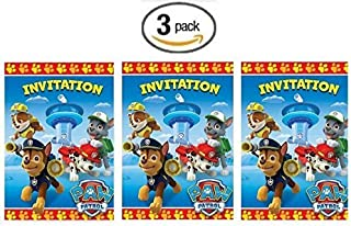 Paw Patrol 8ct Party Invitations - 3 Pack (Three Pack)