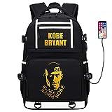 Basketball Player Star Kobe Multifunction Backpack Travel Student Backpack Fans Bookbag (Style 1)