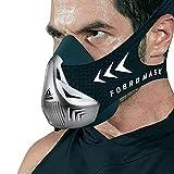 FDBRO Máscaras máscaras de Deportes, Estilo Negro, máscara;scara para Entrenamiento y acondicionamiento de Gran altitud, máscara scara Deportiva 2.0 (M, Negro y Plata)