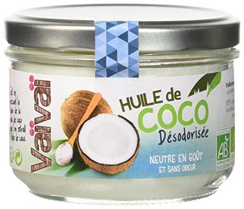 Vaïvaï - Huile de Coco Désodorisée - Huile de Cuisson Bio, 100% Vegan - Sans Goût ni Odeur - 1 Pot de 200ml