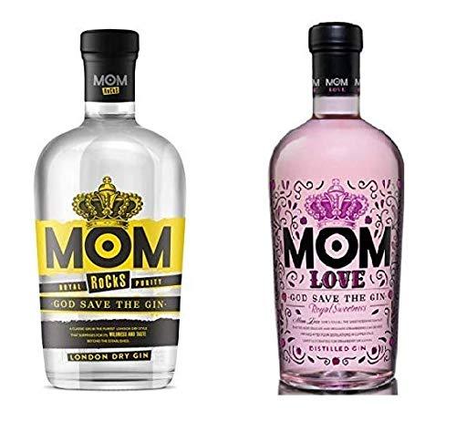 MOM Rocks Ginebra Premium - 700 ml + Love Ginebra Premium - 700 ml