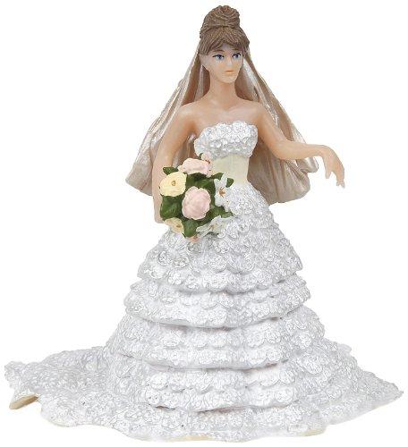 Papo 38819 White lace Bride Bruid in wit kanten jurk, spel, meerkleurig