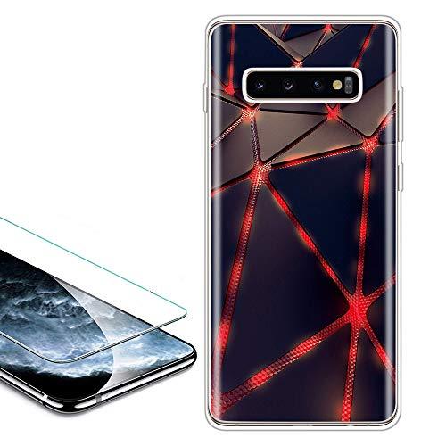 QC-EMART Cover per Samsung Galaxy A10 Custodia in Pelle Rosa Glitter Paillette Luccichio Farfalla Portafoglio Porta Carta Guscio Caso Case Protettiva Custodie Cellulari per Ragazza