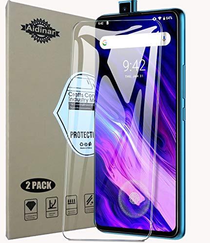 Aidinar. 2 Paquete, Protector de Pantalla UMIDIGI S5 Pro, Cristal Templado [9H Dureza][Alta Definición] Cuerpo Completo Protector para UMIDIGI S5 Pro
