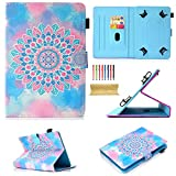 Uliking Universal 9.5-10.5 inch Android iOS Tablet Case Cover for iPad Air 1 2/iPad 9.7/Pro 9.7/10.5/iPad 2 3 4, Galaxy Tab A/E/S/3/4/s2/s3/s4/Pro/Note 9.6' 9.7' 10.1' 10.5' & More, Mandala Flower