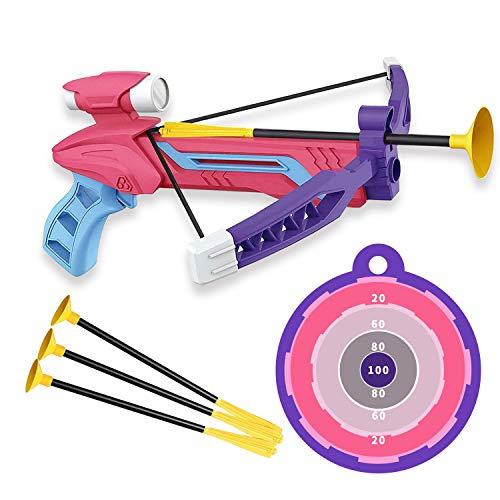 Toynspring アーチェリー 弓矢おもちゃ 弓矢セット アーチェリー セット 射的 射撃 室内室外 子供おもちゃ 男の子 女の子運動 誕生日 プレゼン (ピンク)