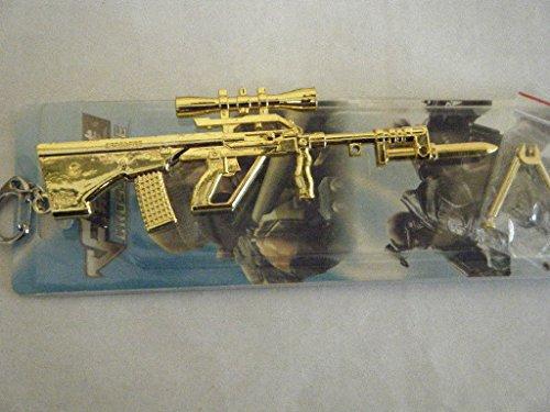 B-Creative - Llavero de Metal sólido Dorado con diseño de Bola de Asalto para Pistola