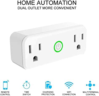 SPRG Mini Wifi Smart Plug compatible for Amazon Alexa, Google Assistant, Voice control the Home Electronic Device Easy to Install