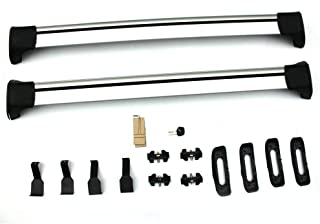 MOTOOS 48 Inch Universal Locking Crossbars Cargo Bars Fit for Cars Without Rails (Bare Roof) Aluminum Pack of 2