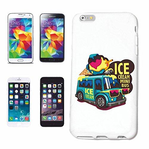 Reifen-Markt Hard Cover - Funda para teléfono móvil Compatible con Samsung Galaxy S4 i9500 Helado Mini Bus Helado Suave Crema de Vainilla Ice ARROZ Pudín de chocol