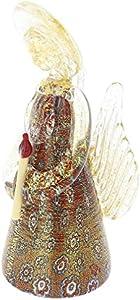 glassofvenice cristal de Murano Millefiori ángel–rojo