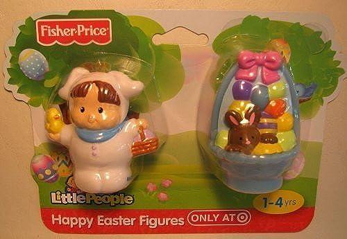 Little People Easter Friends Set - Blau Easter Basket & Little People Weiß Bunny Figure by Little People
