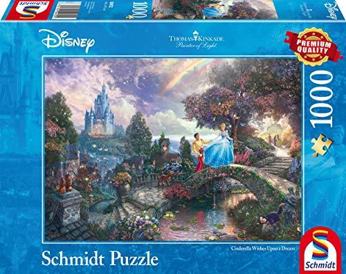 Schmidt Spiele 59472 Thomas Kinkade 59472-Thomas, Disney Cinderella, Puzzle, 1000 Teile, bunt