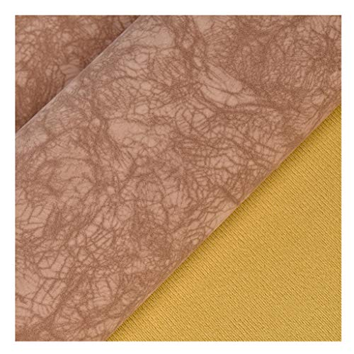 NIANTONG 137x100cm Tela de Cuero de Imitación por Metro Tela de Vinilo Polipiel para Manualidades, Tapicería de Sillas de Sofá, Decoraciones(Color:12)