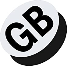 GADLANE Pack Of 2 Fully Magnetic Great Britain GB Black /& White Plates Sticker Extra Thick Strong European Travel Driving Abroad