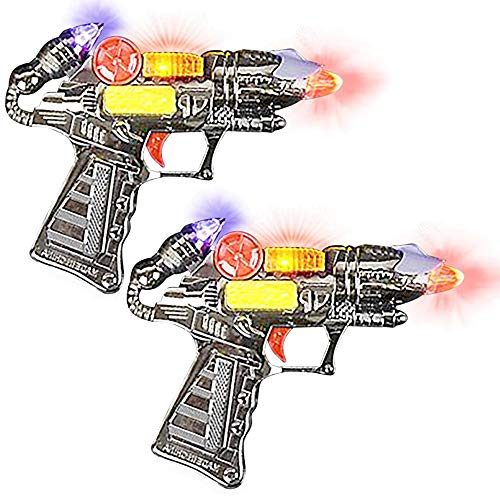 ArtCreativity Ranger HandGun Toy Set with Flashing Lights amp Sounds 2 Cool Futuristic Handguns Pretend Play Toy Gun Great Party Favor Gift for Boys and Girls Batteries Included Colors May Vary
